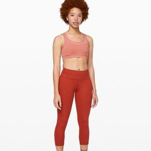 "Lululemon Pace Rival crop 22"" size 8 NWT"